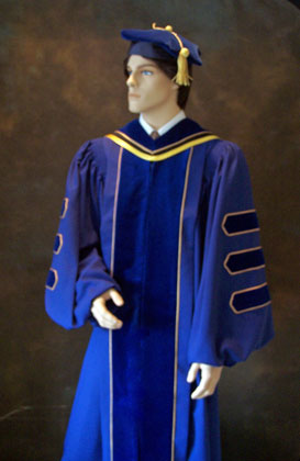 Graduation regalia Doctoral Gowns, PhD tams, academic hoods